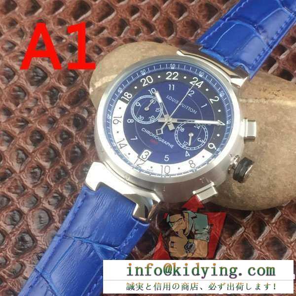 ムダな装飾を排したデザイン 2017春夏 ルイ ヴィトン louis vuitton 男性用腕時計 日付表示 多色選択可