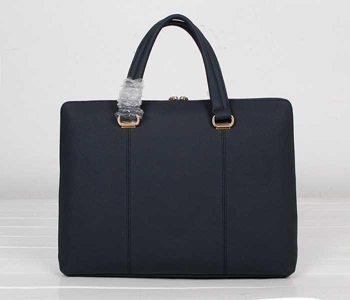 大容量の特徴があるCARTIER カルティエバッグメンズ コピー ハンドバッグ レザー本革 ネイビー ビジネス用バッグ