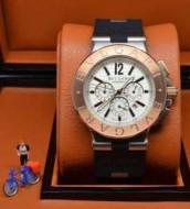 特別人気感謝SALE  BVLGARI ブルガリ ステンレス ラバー クオーツ?ムーブメント 男性用腕時計 4色可選
