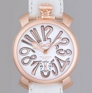 可愛くて上品なガガミラノ GaGa Milano レデイース用の数字表示の腕時計.