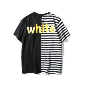 海外セレブ定番愛用 2017春夏 オフホワイト OFF-WHITE 半袖 3色可選 着回し度抜群