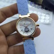 ファッション 人気 2017春夏 多色選択可 輸入クオーツムーブメント ミネラルガラス ルイ ヴィトン 女性用腕時計