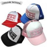 赤、黒、青、ピンクの4色のクロムハーツ、Chrome Heartsの爆買いお買い得のメンズ、レディース網ワークキャップ.