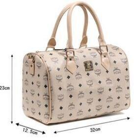 大人しいエムシーエム、MCMのお買い得新品のベージュレディースハンドバッグ.