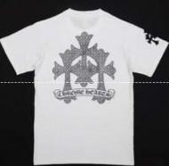 Chrome Hearts メンズショートスリーブロサンゼルス 超激得低価の白い半袖十字架ロゴ スーパー コピー クロム ハーツ.