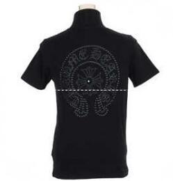 Chrome Hearts BSフレア 棉コットン スーパー コピー クロム ハーツ Tシャツ カットソー フレア プリント 胸ポケット 半袖 黒 超人気新品 .