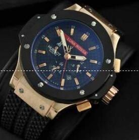 ウブロ ビッグバン スティール セラミック 301.SB.131.RX 大人気なHUBLOT 日付が付き ブラックとゴールド メンズ 腕時計.