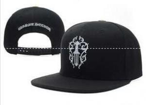 メンズ用の黒クロムハーツ 帽子 新作 ダガーロゴ付き アパレルキャップ CHROME HEARTS ベースボールキャップ.
