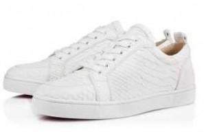 大人気なクリスチャンルブタン スニーカー メンズ CHRISTIAN LOUBOUTIN 白レザー ハイカット スポーツ靴.
