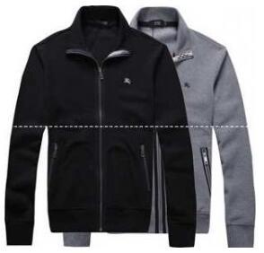人気定番安いバーバリー パーカー 80 BURBERRY メンズジップアップ パーカ 黒と灰色の2色 秋冬アウター.