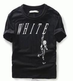 品質保証定番人気なオフホワイト シャツ 着こなし 黒 OFF-WHITE メンズ 半袖クルーネックTシャツ.