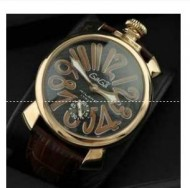 80%OFF GaGa MILANO ガガミラノ  マニュアーレ マヌアーレ 48mm 5010.12S  高級感 メンズ腕時計