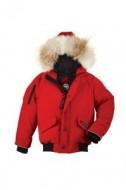 限定セール品質保証秋冬物Canada Gooseカナダグースコピー人気 子供用ダウンジャケット ダウンコート 赤色 防風性に優れ