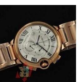 高級感あるCARTIER カルティエコピー Ballon Bleu w6920010ゴールドクロノグラフメンズ時計 自動巻き時計 コピー腕時計