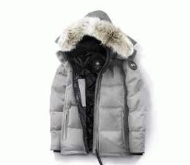 防寒性を高めるCanada Gooseカナダグースコピー メンズダウンジャケット フード付きダウンコートブラック グレー 2色