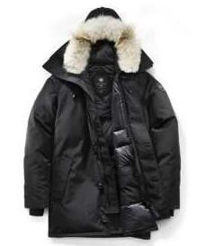 軽くて保温性の高いCanada Gooseカナダグース ダウンジャケットコピー メンズダダウンコート ブラック フード付き
