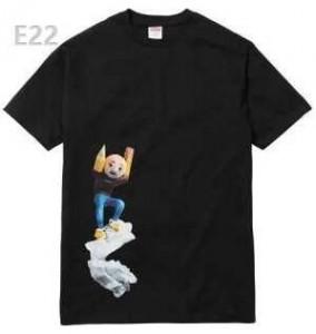 ユニークなデザインシュプリームTシャツコピーコットンプリント半袖SUPREMETシャツクールネック2色可選