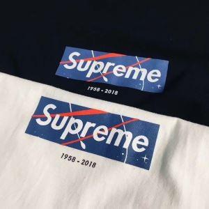 トレンド SUPREME x NASA ボックスロゴプリント半袖Tシャツシュプリームクールネック2色可選