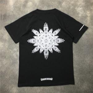 限定モデル クロムハーツTシャツ通販 CHROME HEARTS クールネック プリント 半袖Tシャツ2色可選