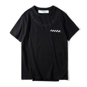 人気定番オフホワイトTシャツコピースタリート半袖Tシャツクルーネック男女兼用
