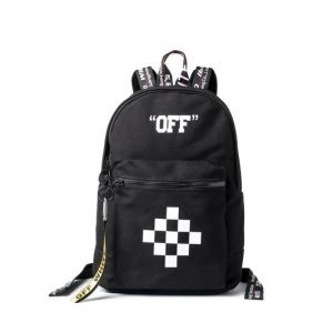 超特価セール OFF-WHITE オフホワイト バッグ コピー バック ファッション カバン リュック 旅行バック メンズ レディース ブラック チェック柄 人気バック
