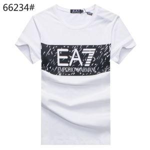 HOT安い アルマーニ t シャツ コピー ブランド 半袖Tシャツ イラスト EA7ロゴデザイン メンズ コットン ブラック ブルー グレー 3色可選