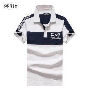 品質が高い アルマーニ 通販 Tシャツ 半袖 POLOTシャツ サイズ 新作 ブランドホワイト ブラック レッド メンズ 3色可選