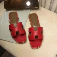 夏の必需品!HERMESサンダル 新作 エルメス 偽物 Hロゴ 靴 レディース 赤色 ins同款アイテム