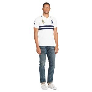 ホワイト レッド ブラック ポロラルフローレン Tシャツ 刺繡  図案 323670257 ポロネック Polo Ralph Lauren 2018夏季新作