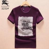 4色展開 夏季Tシャツ クルーネック 半袖 BURBERRY バーバリー Tシャツ メンズブラック ホワイト パープル