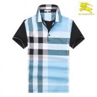 注目美品バーバリーTシャツチェックメンズコットン半袖tシャツ