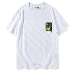 新季度 オフホワイト Tシャツ コピー ゆったり 心地良さ Off-Whiteトップス メンズ18圧倒的人気新着