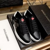 Dolce&Gabbana コピー 黒 スニーカー 欧米超ファッション ドルチェ&ガッバーナ 通販 靴 メンズの愛用品