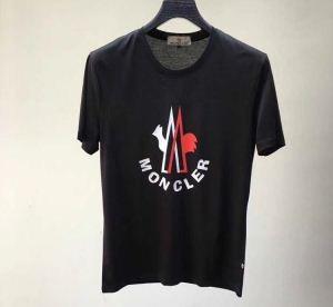 モングレールコピーメンズファッションクルーネック半袖tシャツプリントロゴ付きブラック