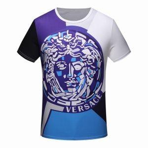 2018人気潮流 トップス ヴェルサーチ Tシャツ VERSACE コピー MEDUSA PRINT T-SHIRT 海外セレブ風 Fashion 服