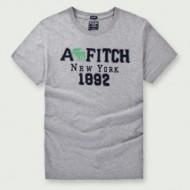 ★夏季更新★ Abercrombie & Fitch グラフィック Tシャツ 偽物 アバクロ 半袖 カジュアル 服 カッチリ グレー