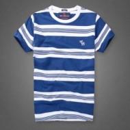 2018夏季Abercrombie & Fitch 新品 Tシャツ アバクロ コピー ボーダー 柄 吸汗速乾 リラックス ファション 夏着