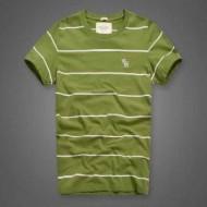 夏色 綺麗 トップス アバクロ コピー TシャツAbercrombie & Fitch 快適 サイズ感良さ グリーン 青い 2 色可選