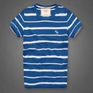 日本最新版!アバクロ Tシャツ 偽物 半袖 リラックス 着物 潮Tee 綿100% 色っぽい  2 色 ストライプ 丸首