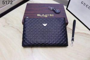 今年大流行ARMANIアルマーニバッグメンズビジネス用本革ブラッククラッチバッグコピー
