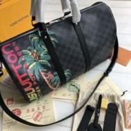 最高級品質ルイヴィトンコピー激安Louis Vuitton旅行用レザー素材ボストンバッグ人気