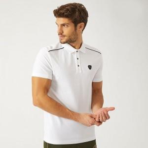 上品でファッションARMANIアルマーニコピー刺繍ロゴ付き汎用性が高いメンズポロ半袖tシャツ偽物