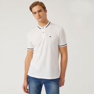 洗練された印象ARMANIエンポリオ アルマーニコピービジネス用メンズポロ半袖tシャツ