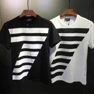 お買い得HOTアルマーニ通販ARMANI黒、白ビジネス用プリントメンズクルーネック半袖Tシャツ超激得