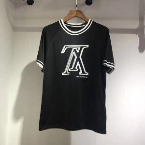 爽やかな着心地Louis Vuittonルイヴィトンtシャツコピーロゴプリント抜群の吸汗性クルーネック半袖ブラック、ホワイト