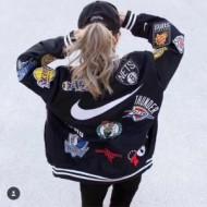 新登場Supreme 18SS NIKE NBA Warm-UP Jacketシュプリームコピー男女兼用ジャケットブラック、ホワイト