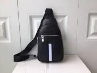 新作入荷BALLYバリーコピービジネス用本革ブラックのメンズ斜め掛けウエストバッグ人気品