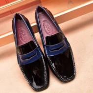 素敵で上品なデザイントッズ靴コピーTOD'Sスーパーブランドコピーメンズブラック光沢あるレザー
