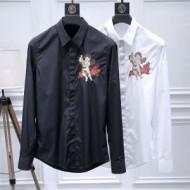 先行予約アイテム ドルチェ&ガッバーナメンズシャツ Dolce&Gabbanaスーパーコピーブラック白