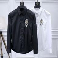 返品可能送料込  ドルチェ&ガッバーナ長袖tシャツコピー Dolce&Gabbanaスーパーブランドコピーブラック白胸元ロゴ